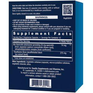 Senolytic Activator 24 vegetarian capsules supplement facts