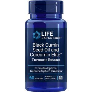 Black Cumin Seed Oil with Curcumin Elite Turmeric Extract 60 softgels