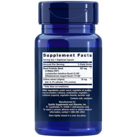FLORASSIST Mood Improve, 30 capsules Supplement Facts