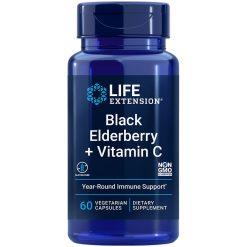 Black Elderberry + Vitamin C, 60 vegetarian capsules - Life Extension